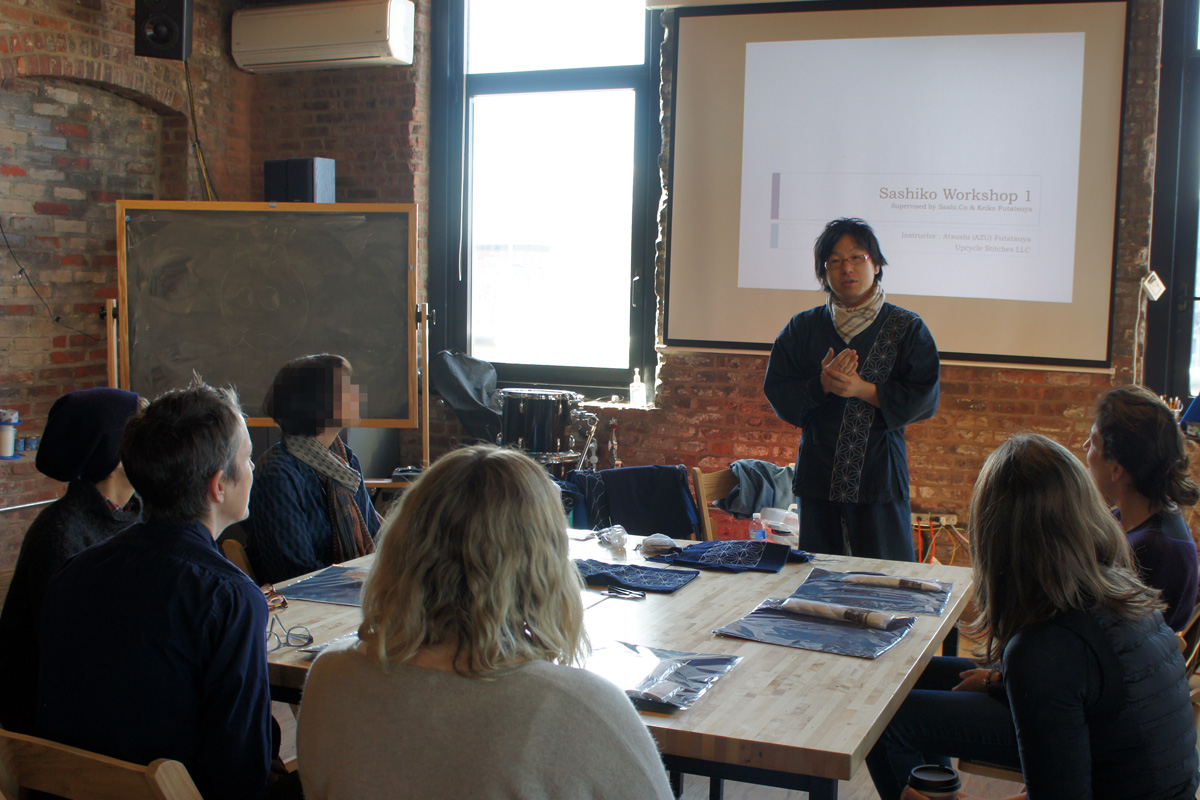 Atsushi's Sashiko Workshop in NYC